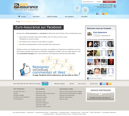 Page Facebook Euro-Assurance