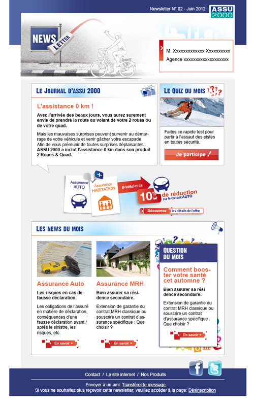 Newsletter ASSU2000 France
