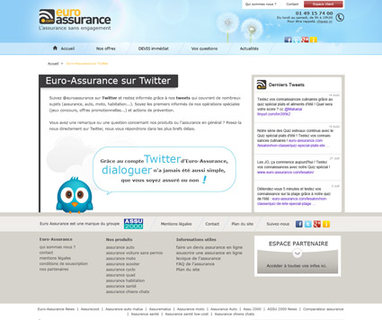 Page twitter Euro-Assurance